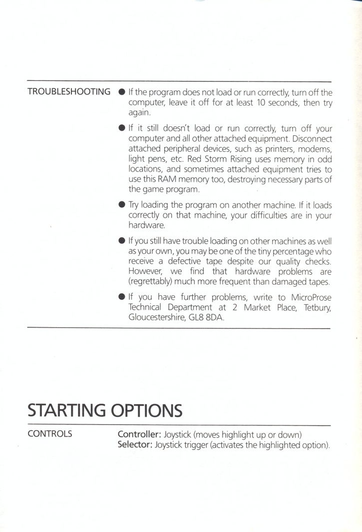 Red Storm Rising technical supplement page 2