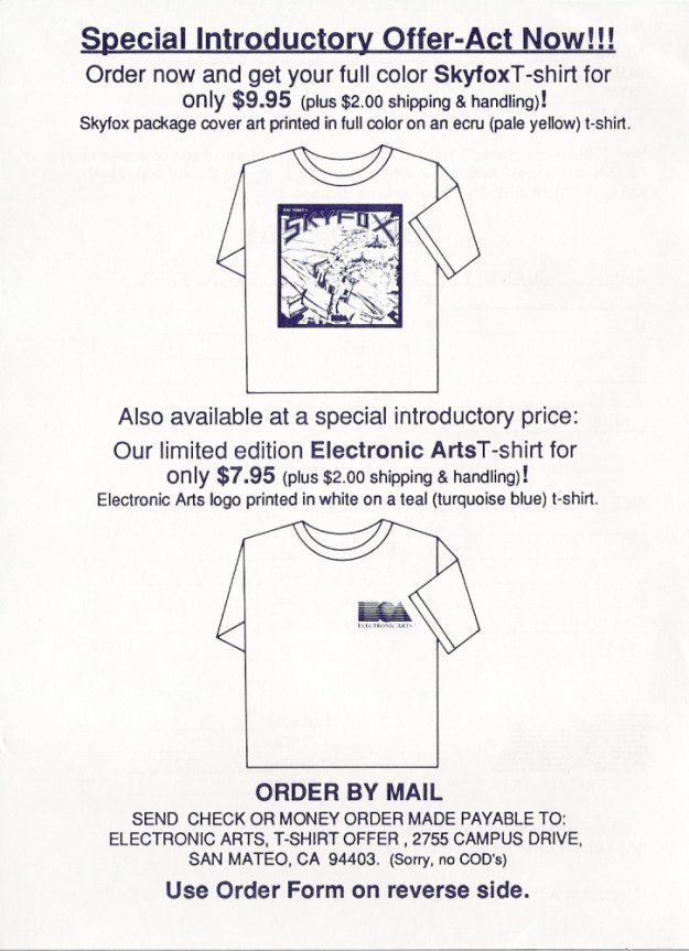 Skyfox T-Shirt Offer Page 1