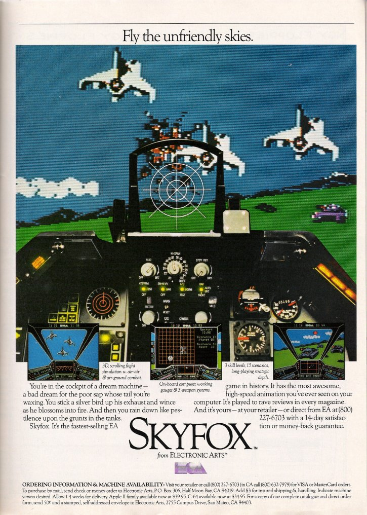 Skyfox COMPUTE!'s Gazette Ad: February 1986