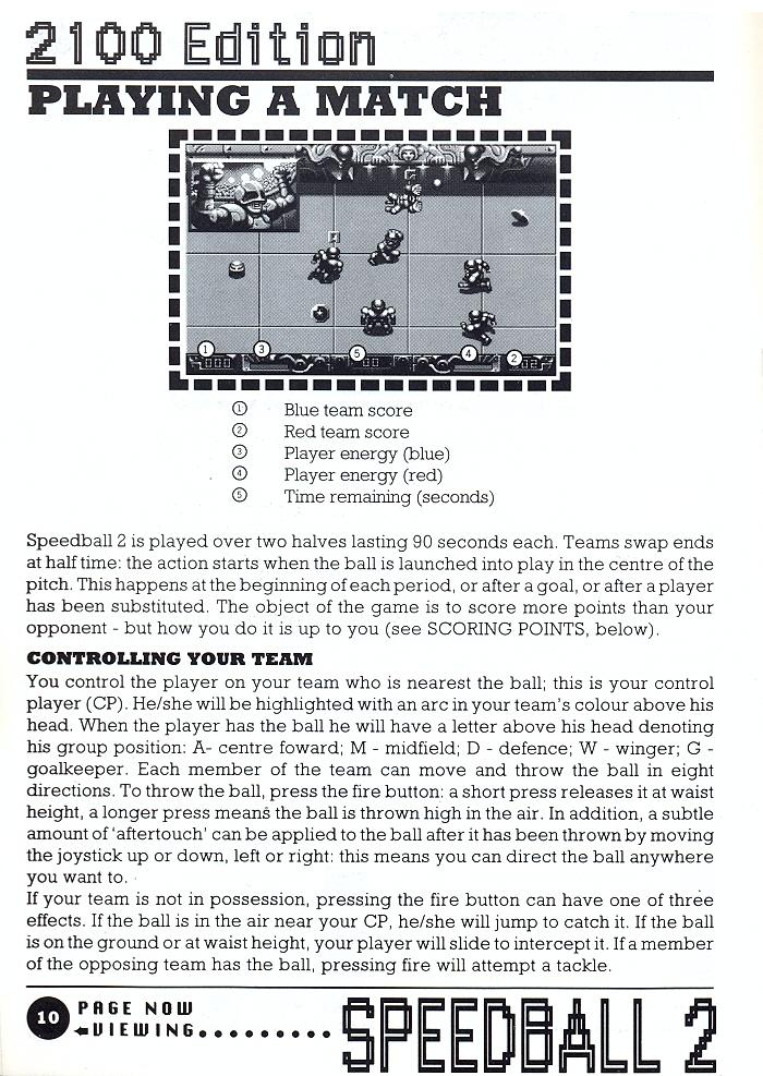 Speedball 2: Brutal Deluxe manual page 10