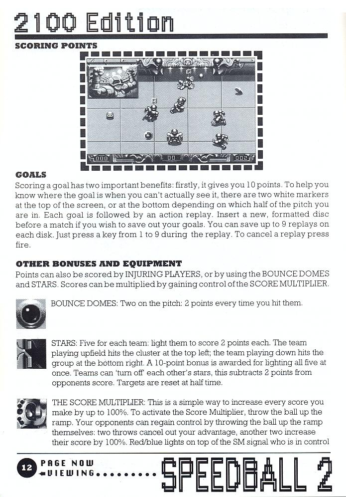 Speedball 2: Brutal Deluxe manual page 12