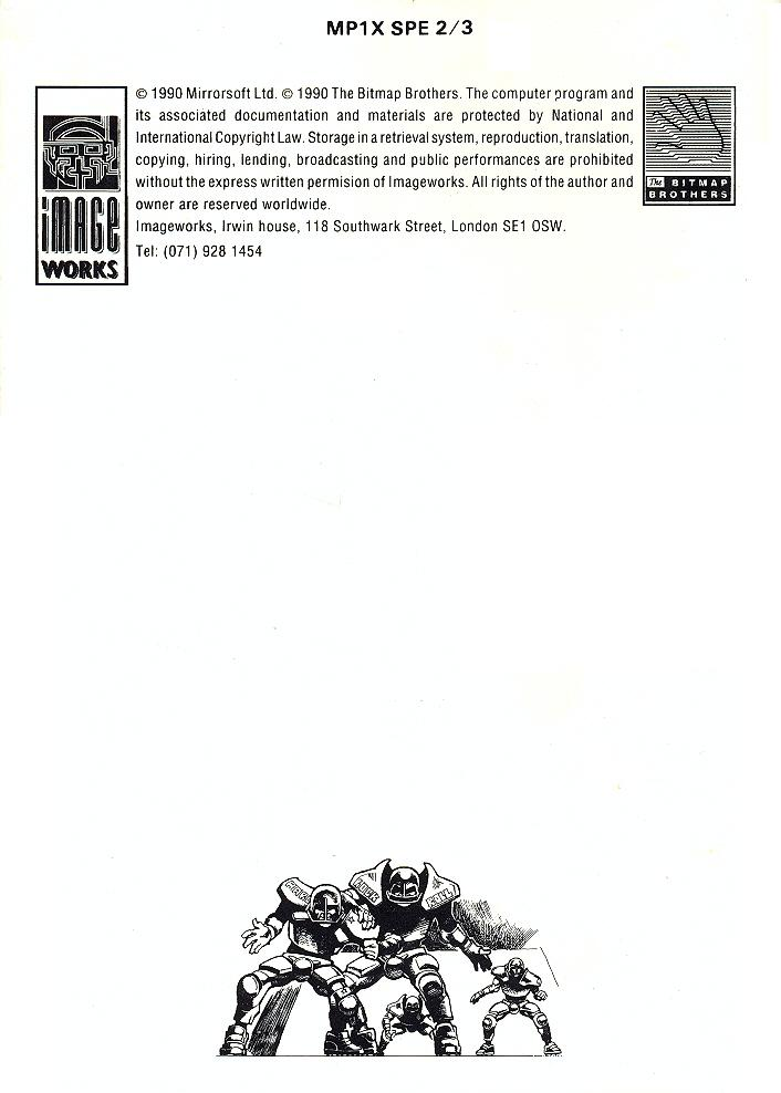 Speedball 2: Brutal Deluxe manual page 21