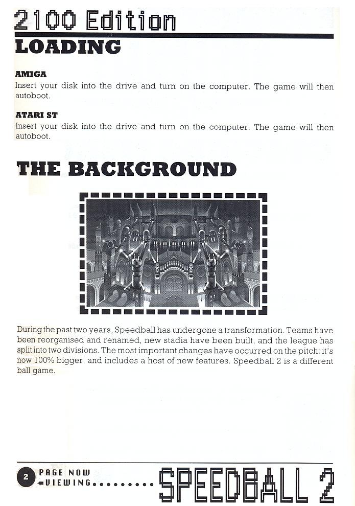 Speedball 2: Brutal Deluxe manual page 2