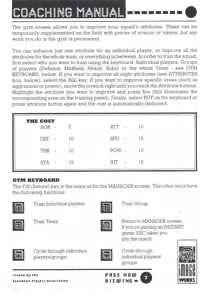 Speedball 2: Brutal Deluxe manual page 7