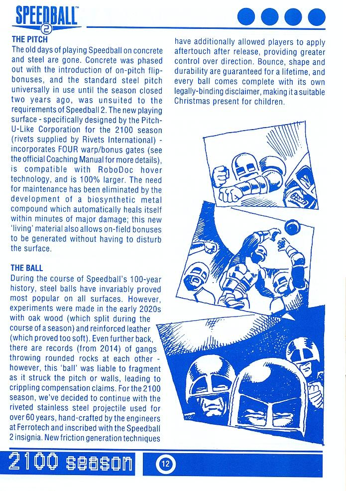 Speedball 2: Brutal Deluxe Souvenir Programme page 12