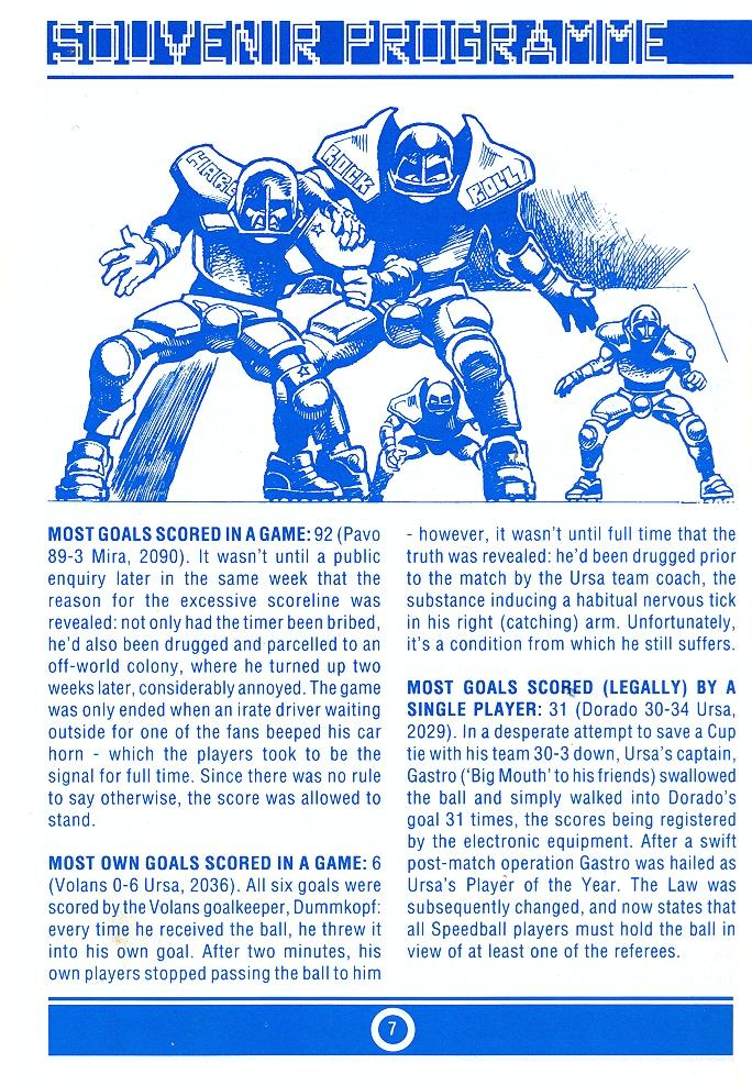 Speedball 2: Brutal Deluxe Souvenir Programme page 7