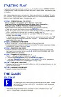 Summer Games Manual Page 3