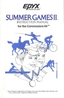 Summer Games II Manual Front Cover