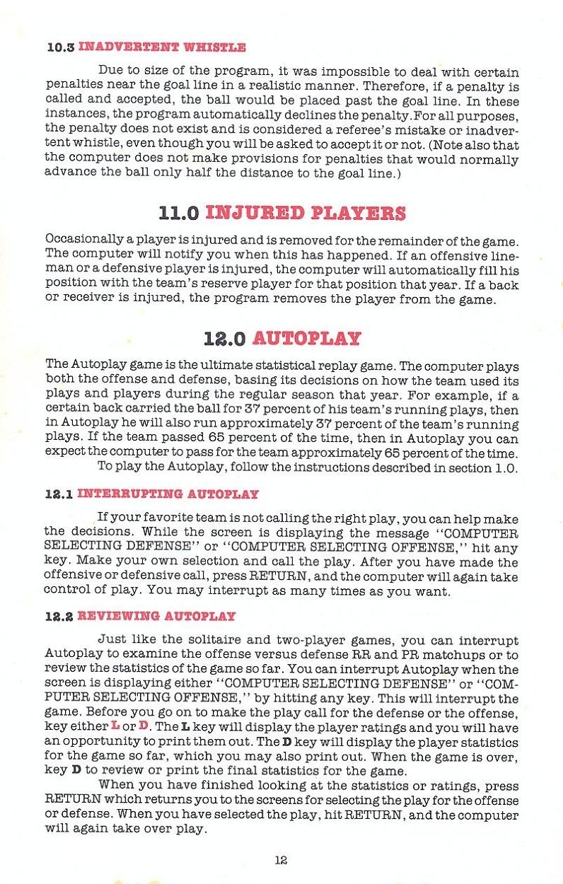 Superbowl Sunday manual page 12