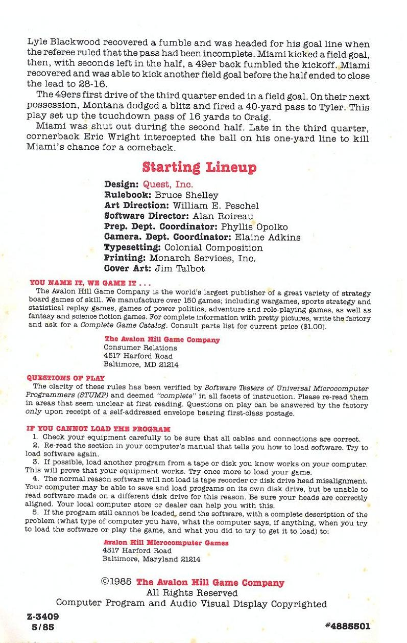 Superbowl Sunday manual page 24