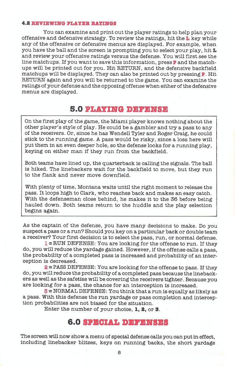 Superbowl Sunday manual page 8