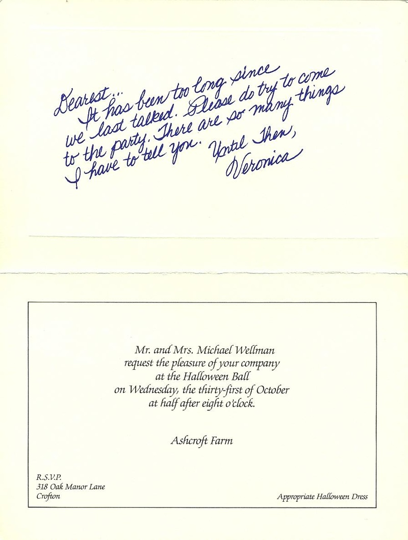 Suspect invitation card back