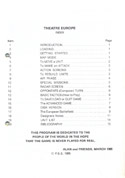 Theatre Europe manual page i