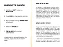 Tir Na Nog manual pages 4-5