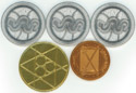 Ultima I back of coins