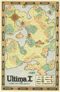 Ultima I brown map