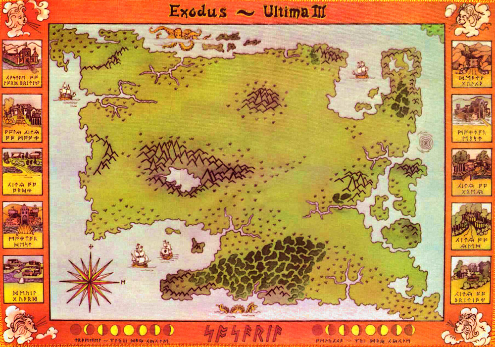 Ultima III: Exodus map