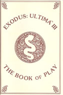 Ultima III: Exodus manual front cover