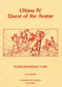 Ultima IV: Quest of the Avatar reference sheet 1