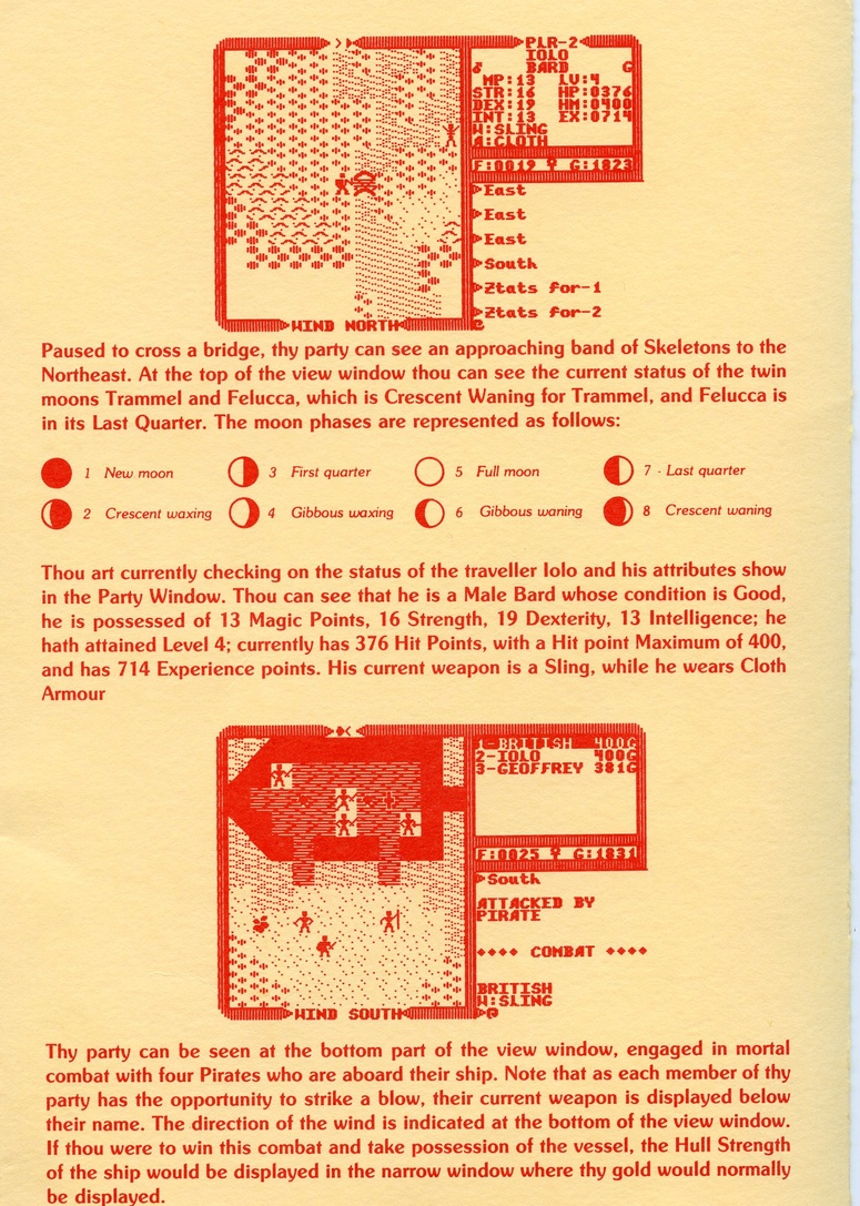 Ultima IV: Quest of the Avatar reference sheet 5