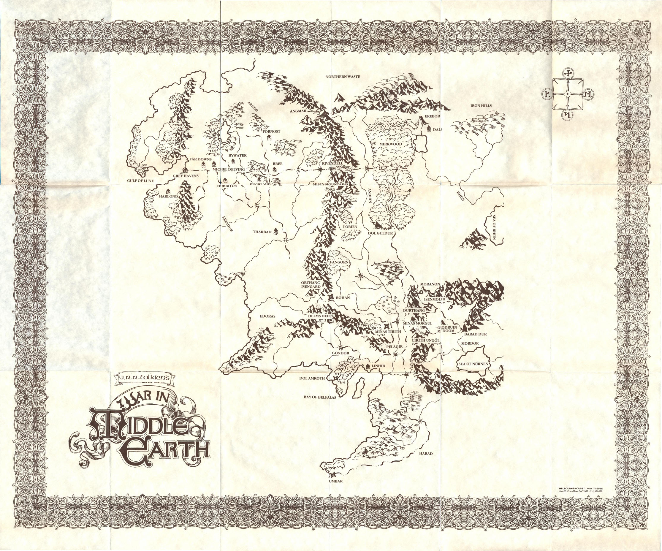 war in middle earth map