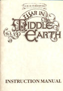 War in Middle Earth manual front cover