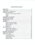 Wasteland manual page ii