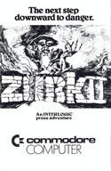 Zork II: The Wizard of Frobozz manual front cover